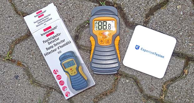 Brennenstuhl Feuchtigkeitsmessgerät im Test - Anzeige über großes LCD-Display (in Prozent, Auflösung 0,1%) sowie akustisch (abschaltbar)