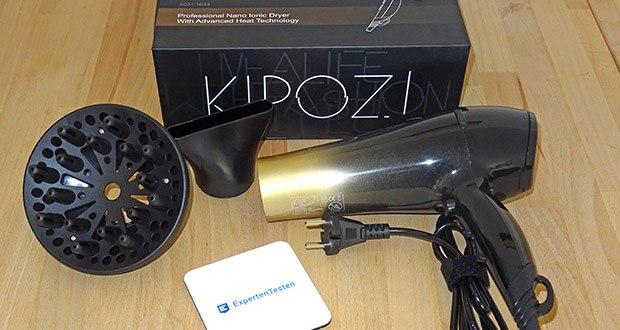 KIPOZI Haartrockner im Test - professioneller Haartrockner mit zwei Geschwindigkeiten + drei Heizstufen und einem coolen Shot-Button