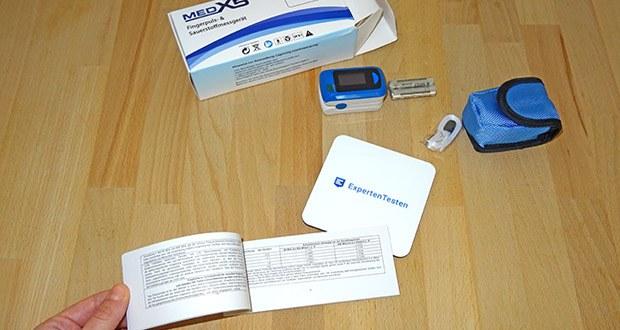 """MedX5 Fingerpulsoximeter im Test - einfache """"One Touch"""" Bedienung"""