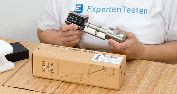 SOREX FLEX Fingerprint & RFID Türöffner im Test - Batteriebetriebener Drehknaufzylinder zur Türentriegelung mit Fingerabdruck und RFID Karte