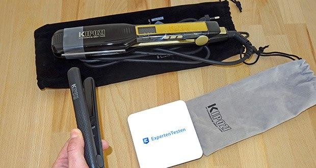KIPOZI Glätteisen im Test - Glätteisen mit speziellen 4.5cm extra breiten Platten, welche Haare mit vollen Kontakt und haftungsfrei glätten