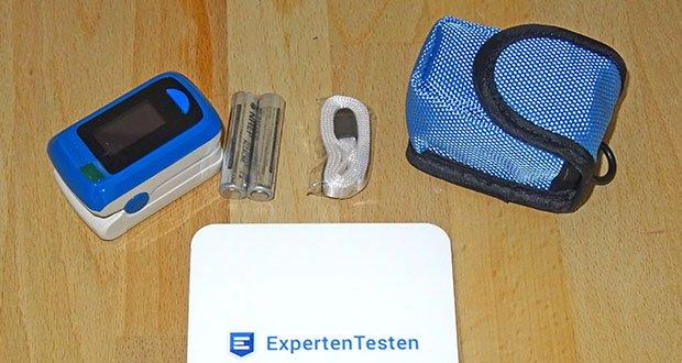 MedX5 Fingerpulsoximeter im Test - einstellbare Displayhelligkeit 5 Stufen
