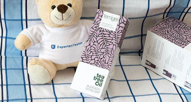 Australian Bodycare Femigel Intimpflege im Test - das Gel kann auch als Gleitmittel verwendet werden und wird auch vor und nach dem Besuch im Schwimmbad empfohlen