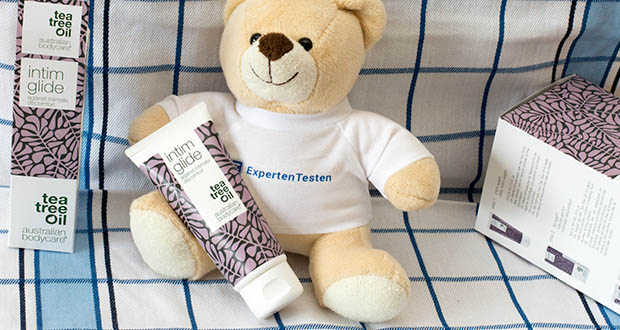 Australian Bodycare Gleitgel für Intimpflege im Test - ist ideal für ein sinnliches Vorspiel und kann zusammen mit Latexkondomen und Sexspielzeug aus Silikon verwendet werden