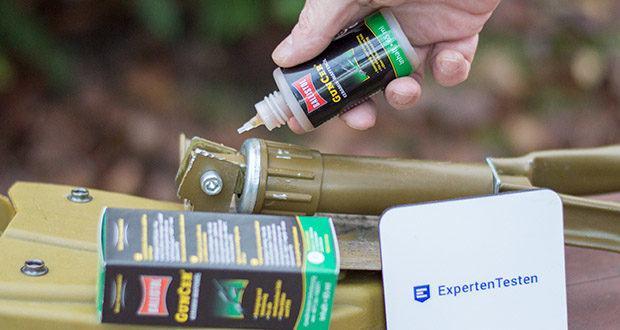 BALLISTOL GunCer Keramik-Waffenöl im Test - durch die kleinen Keramikpartikel entsteht eine sogenannte Notlaufeigenschaft, die sogar bis über 1000°C reicht
