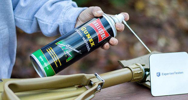 BALLISTOL Gunex Waffenöl Spray im Test - hält die gesamte Mechanik von Gewehren, Pistolen und Revolvern gleitaktiv