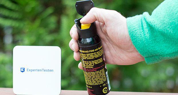Ballistol KO-FOG Pfefferspray im Test - Panikverschluss verhindert falsche Anwendung in Notsituationen