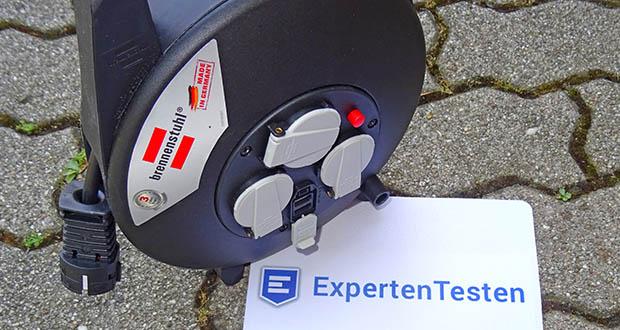 Brennenstuhl Kabeltrommel im Test - Mini-Kabeltrommel mit 2 USB Ladebuchsen, welche staub- und schmutzgeschützt sind