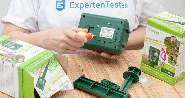 ISOTRONIC Ultraschall Marderschreck im Test - minimaler Stromverbrauch durch neue Elektronik, Batterien müssen erst nach ca. 8 Monaten gewechselt werden