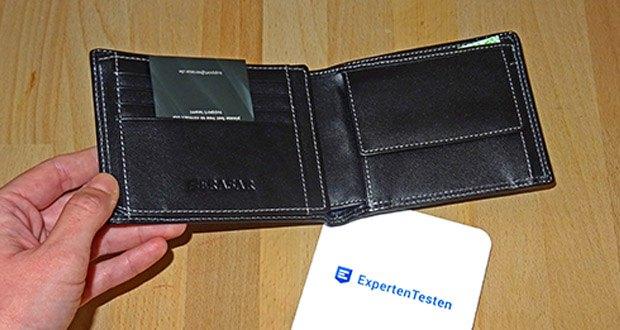 SERASAR Leder Geldbeutel mit RFID Schutz im Test - Material: Nappaleder