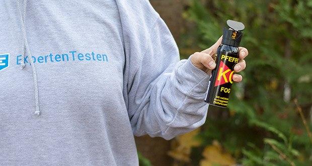 Ballistol KO-FOG Pfefferspray im Test - mit Sprühnebel (ideal für sicheres Treffen), Sprühweite bis zu 4 Meter
