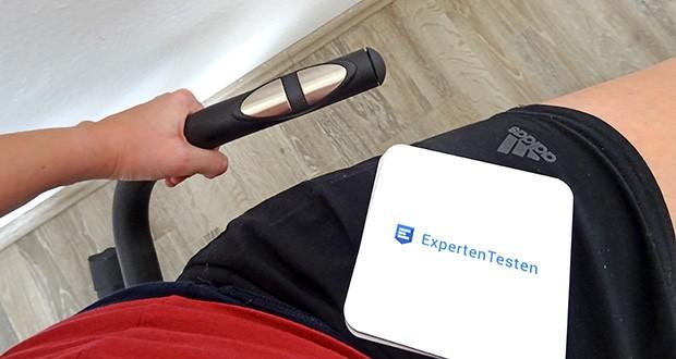 Christopeit Ergometer im Test - Handpulsmessung an den Griffstangen, anpassbare Sitzposition