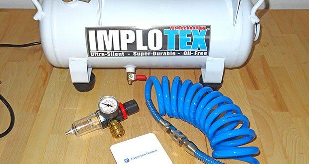 Implotex Druckluftkompressor im Test - eignet sich ideal für folgende Anwendungen: Airbrush, Bodypainting, Spot Repair, Reifen, Fahrrad, Bälle befüllen, Lackierarbeiten, Nutzung mit Klammergeräten, Fettpresse, Silikonpistolen, Dentallabor, Werkstatt