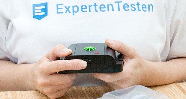 ISOTRONIC Katzenschreck im Test - über einen An- und Ausschalter kann das Abwehrgerät individuell aktiviert werden