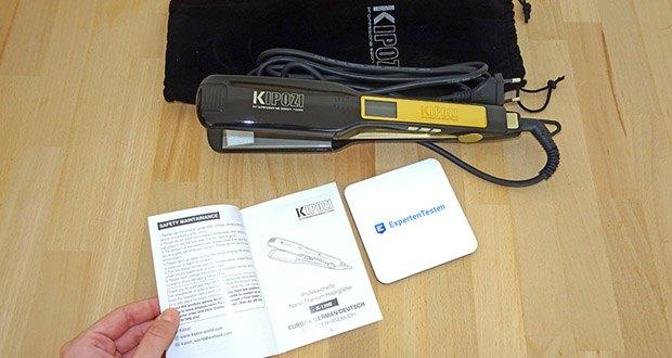 """KIPOZI Glätteisen im Test - wählen einer vorbestimmten Temperatur durch das drücken von """"P"""""""