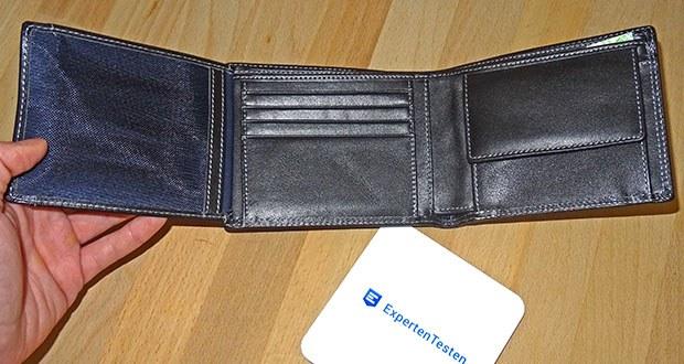 SERASAR Leder Geldbeutel mit RFID Schutz im Test - 12 Kartenfächer, 2 Geldscheinfächer, 1 Kleingeldfach, 1 Ausweisfach