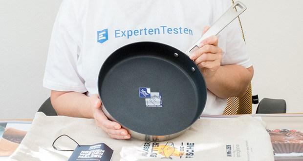 Tim Mälzer by Springlane Teflonpfanne 24 cm im Test - besteht aus hochwertigem Mehrschichtmaterial (Tri-Ply), bei dem ein Aluminiumkern von zwei Lagen Edelstahl umschlossen wird