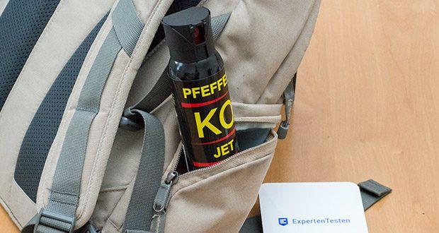 BALLISTOL KO-JET Pfefferspray im Test - optimaler Inhalt: 100 ml - findet Platz in jeder Hosen-, Jacken- und Handtasche und ist für mehrere Aktionen ausreichend
