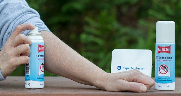 BALLISTOL Stichfrei Mückenspray im Test - gleichzeitig wirkt es erfrischend und vermindert die Auskühlung der Muskeln beim Sport