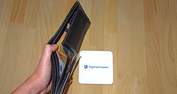 SERASAR Leder Geldbeutel mit RFID Schutz im Test - RFID-Schutz