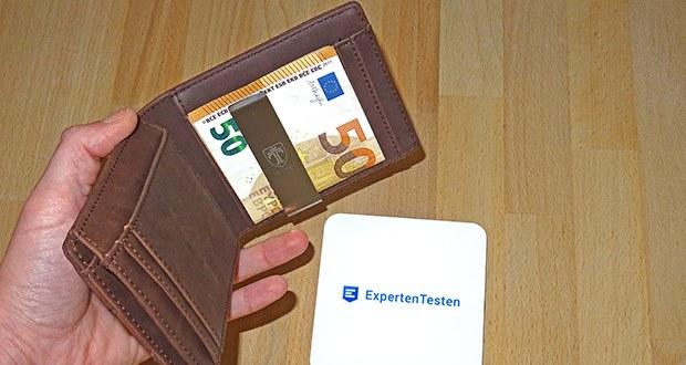 TRAVANDO Geldbeutel Männer mit Geldklammer im Test - 11 Kartenfächer