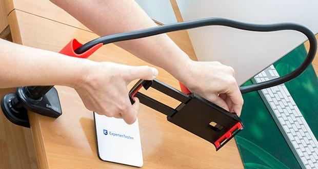 EasyAcc Tablet Halterung Handyhalter im Test - passt zu allen Smartphones und den meisten Tablet PCs von 4 bis 10.6 Zoll