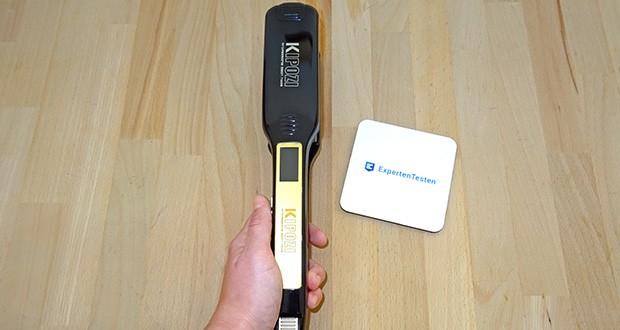 KIPOZI Glätteisen im Test - liegt durch die ergonomische Form gut in der Hand