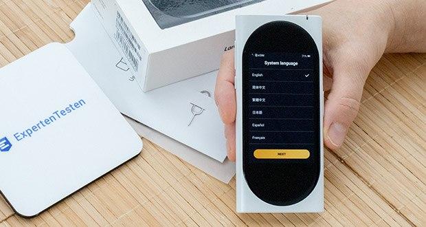 Langogo elektronischer Sprachübersetzer im Test - macht von mehr als 20 fachlichen Übersetzungsmaschinen Gebrauch, damit die höchste Genauigkeit garantiert wird