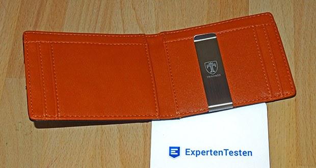 TRAVANDO Geldbeutel Männer mit Geldklammer im Test - Material: Premium Kunstleder
