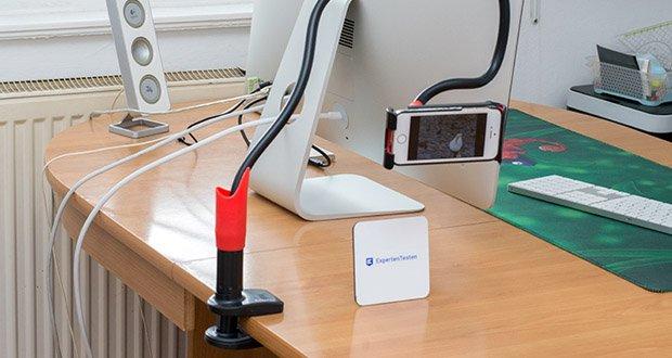 EasyAcc Tablet Halterung Handyhalter im Test - nicht nur horizontal sondern auch vertikale Winkel sind einstellbar