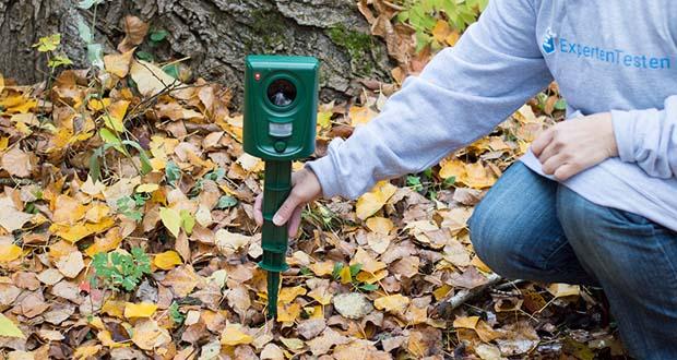 ISOTRONIC Ultraschall Marderschreck im Test - ideal geeignet für Balkon, Garten, Terrasse, Vorgarten, Schrebergarten, Blumenbeet, Baumplantage, Acker, Gewächshaus, Scheune etc.