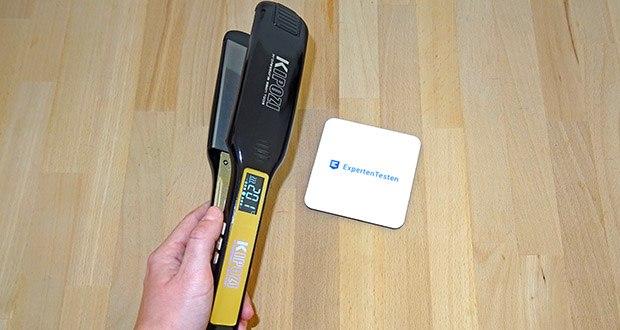 KIPOZI Glätteisen im Test - der stabile und ergonomisch geformte Griff schützt Ihre Hand vor dem verbrennen