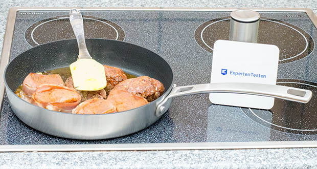 Tim Mälzer by Springlane Teflonpfanne 24 cm im Test - Material: Edelstahl, Aluminium (Tri-Ply), Beschichtung: Teflon Platinum Plus