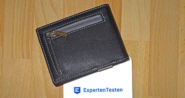 TRAVANDO Geldbeutel Männer mit Geldklammer im Test - Maße: 11,4 x 11,4 x 1,9 cm (geschlossen und leer), Gewicht: 54 Gramm (Leergewicht)