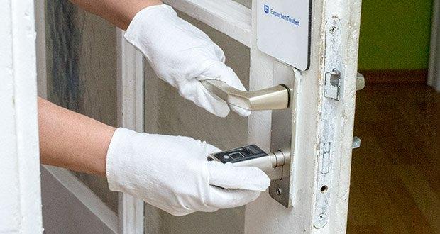 SOREX FLEX Fingerprint & RFID Türöffner im Test - ideal zum Nachrüsten - schnelle und einfache Montage