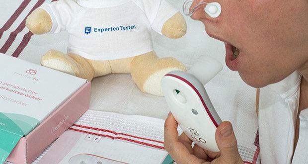 Fruchtbarkeitstracker Zykluscomputer breathe ilo im Test - ist der einzige Ovulationstest der deine fruchtbaren Tage in Echtzeit erkennt – bei Kinderwunsch und zur natürlichen Zykluskontrolle und das ganz einfach über deinen Atem