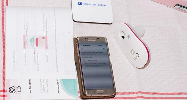 Fruchtbarkeitstracker Zykluscomputer breathe ilo im Test - breathe ilo misst den CO2-Gehalt und überträgt die Daten an die Smartphone-App