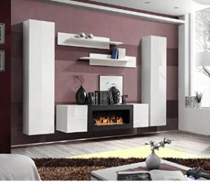 Verschiedene Modelle der Wohnwand mit Kamin im Test und Vergleich