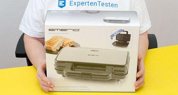 Emerio XXL Sandwichtoaster im Test - Thermostat für automatische Hitzeverteilung für ideale Ergebnisse