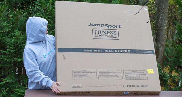 JumpSport Mini-Fitnesstrampolin Modell 570 im Test - Garantie bei fachgerechter privater Nutzung beträgt: Gummiseile 3 Jahre; Matte 5 Jahre; Rahmen 30 Jahre