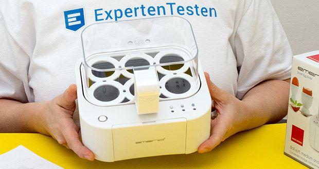 Emerio Eierkocher im Test - Eierkocher mit Ablage für 6 Eier