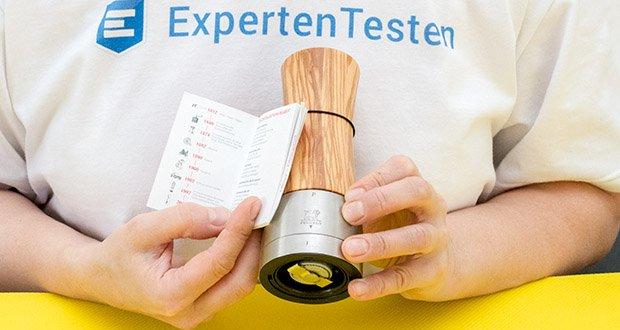 Peugeot Pfeffermühle Madras aus Olivenholz im Test - 25 Jahre Garantie auf das Metall-Mahlwerk