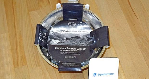 RÖSLE Bratpfanne Silence im Test - gekapselter Sandwichboden mit Aluminiumkern