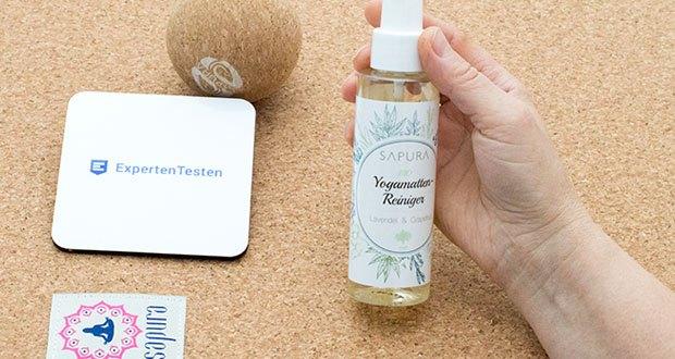 SAPURA Yogamatten Reiniger Bio im Test - mit Yogamatten Reiniger SAPURA BIO sagst Du Flecken, Gebrauchsspuren und üblen Gerüchen im Handstreich den Kampf an