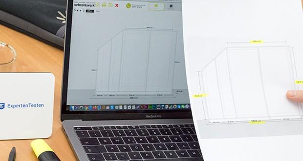 schrankwerk.de online Kleiderschrank Konfigurator im Test - starten mit der leeren Konfiguration