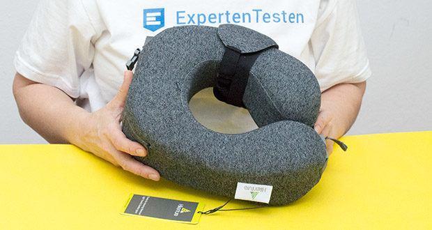 HIKENTURE Reise Nackenkissen im Test - das Material ist weich und bequem und bereitet dabei auch ausreichend Unterstützung für Ihren Nacken sowie Kopf