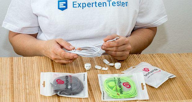 BODYPRIDE Premium Schnürsenkel mit Schnellverschluss im Test - mit einer Länge von 1,20 m sind für Sport- und Laufschuhe, sowie Alltagsschuhe, Arbeitsschuhe und Kinderschuhe geeignet
