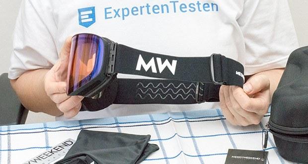 MessyWeekend Unit Skibrille mit photochromer XEp Linse im Test - die Anti-Rutsch-Silikonstrips sorgen für einen guten Halt, unabhängig von der Aktivität