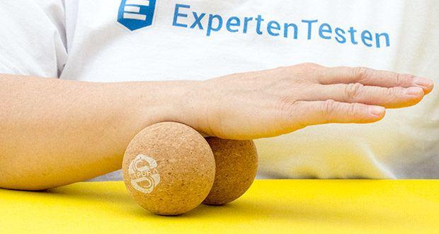 SAPURA Fasziendoppelball aus Naturkork im Test - Optimale Form für Nacken, Schulter, Oberschenkel, Waden und Füße