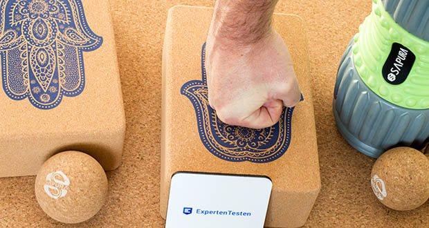 SAPURA Yogablock aus Naturkork im Test - optimales Training mit nachhaltigem Material
